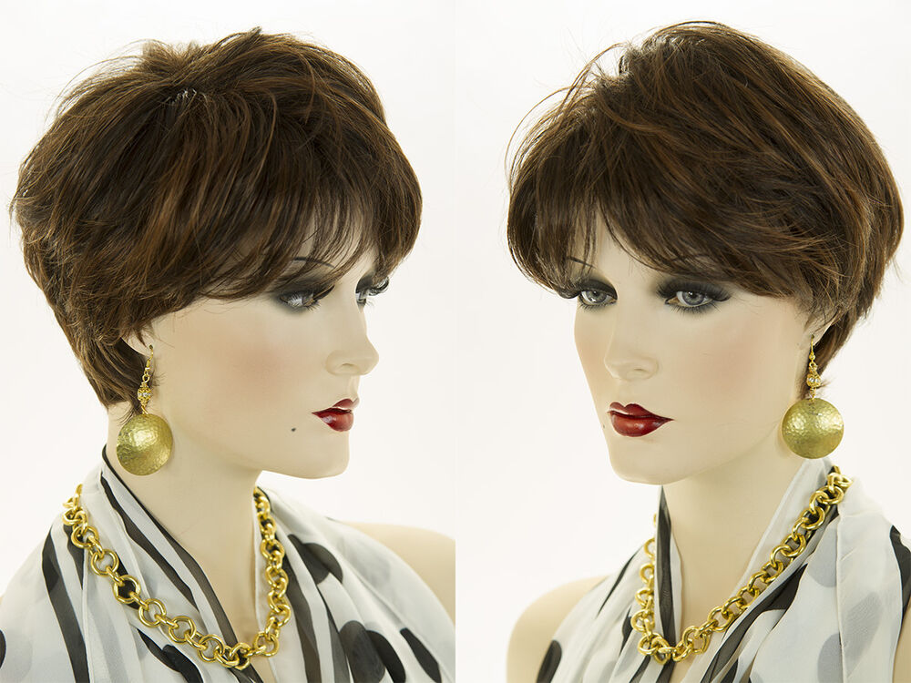 Short Straight Chic Pixie Style Wig Classic Salon Cut Red