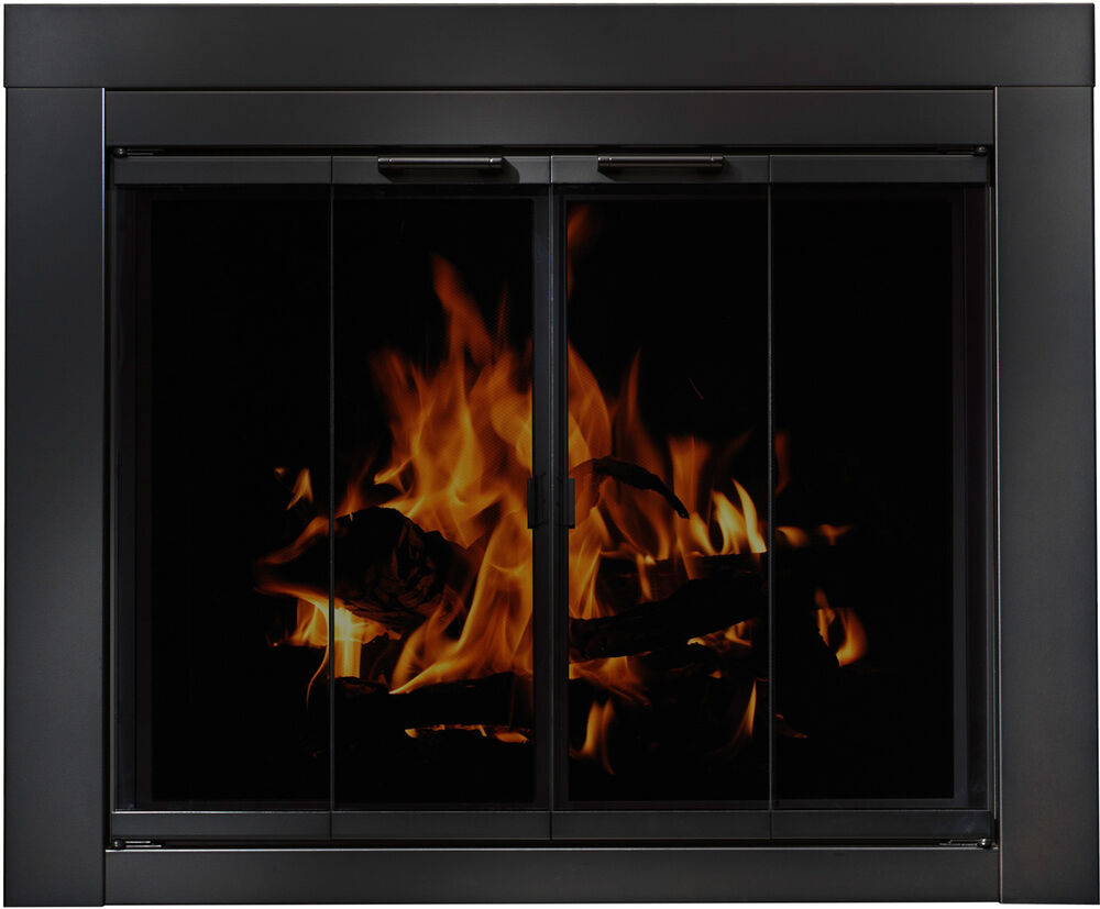residential retreat masonry fireplace doors blk steel