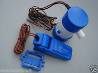 COMPACT RUN DRY  BILGE PUMP 12 V / 350 GPH AND AUTO FLOAT SWITCH  / 3 MTR HEAD