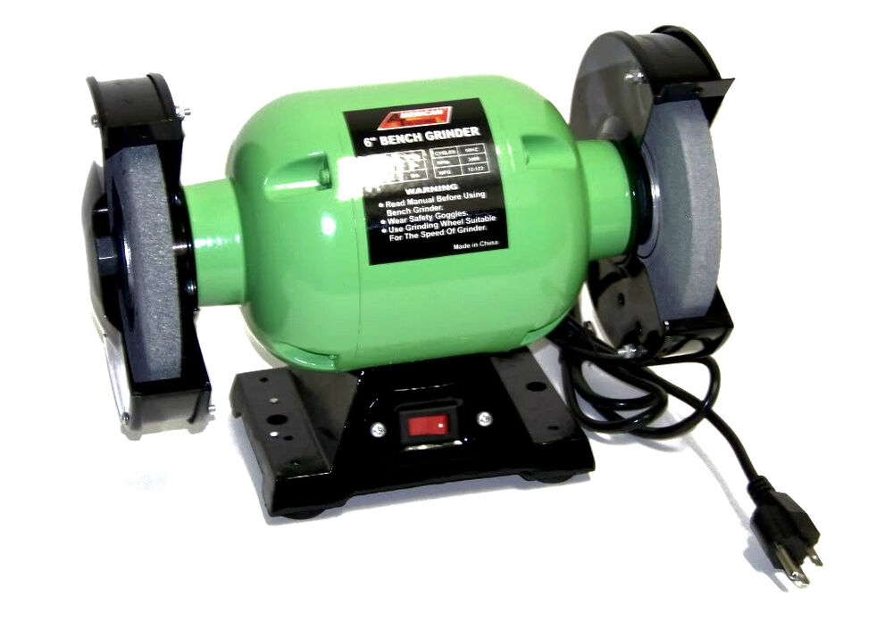 Electric Bench Grinder With 6 Grinding Wheels Power Cutting Tools Ebay
