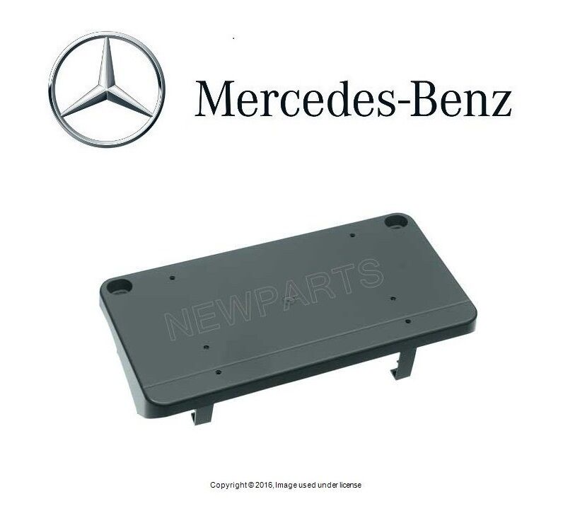 Mercedes w208 genuine license plate mounting bracket base for Mercedes benz front license plate frame