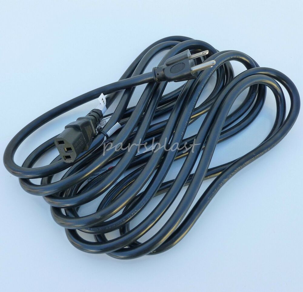 15 ft behringer amplifier hd power cable amp ac cord a500 long heavy duty c 13 ebay