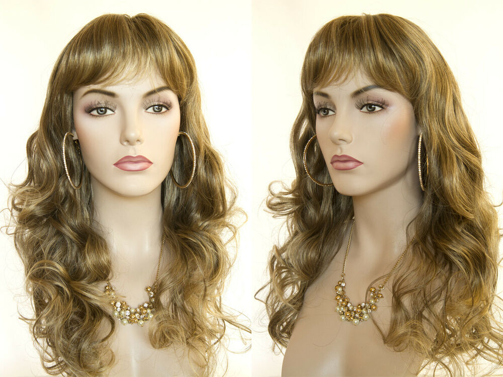 Long Layered Blonde Brunette Red Wavy Partial Skin Top