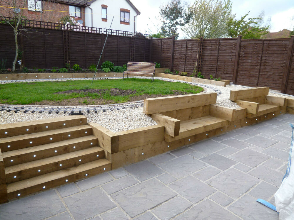 Concrete garden paving slabs 4 size bundle deal 38mm for Garden decking and slabs
