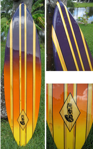 Tropical Style Decorative Wooden Surfboard Wall Art ...