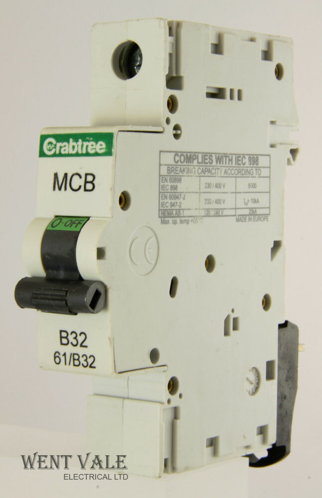 Crabtree Starbreaker 61 B32 32a Type B Single Pole Mcb