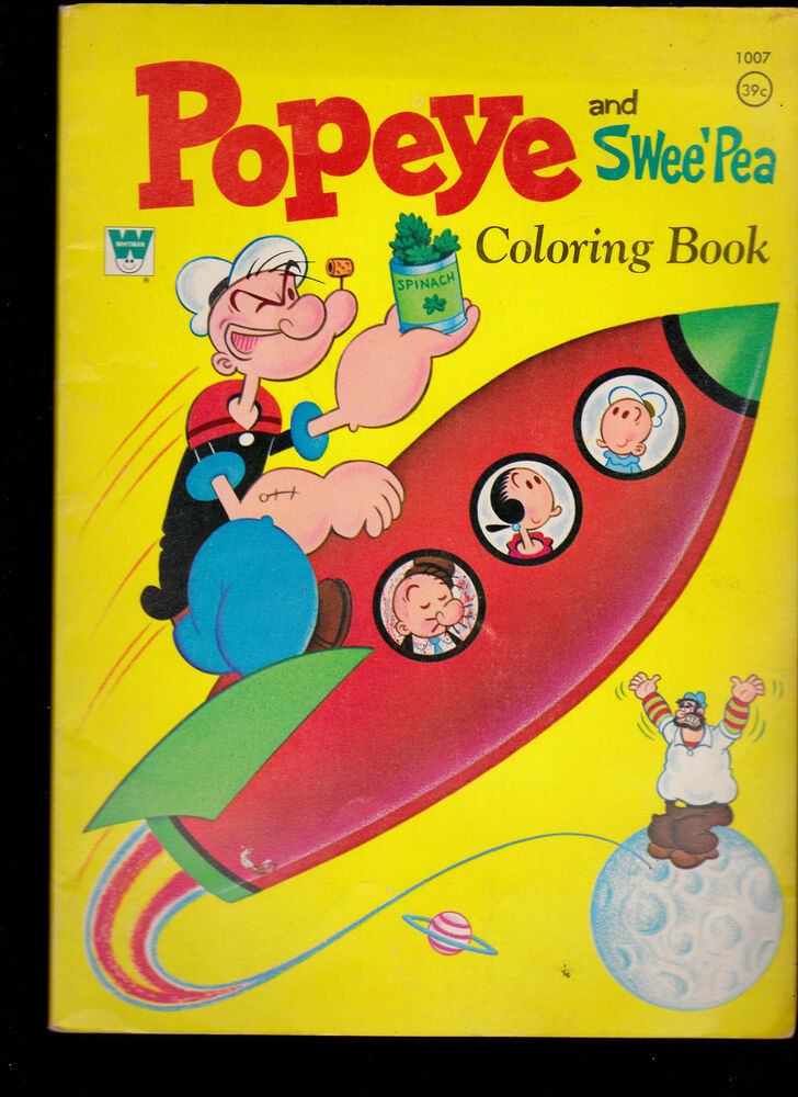 1970 Whitman Coloring Book Popeye And Swee Pea 1007