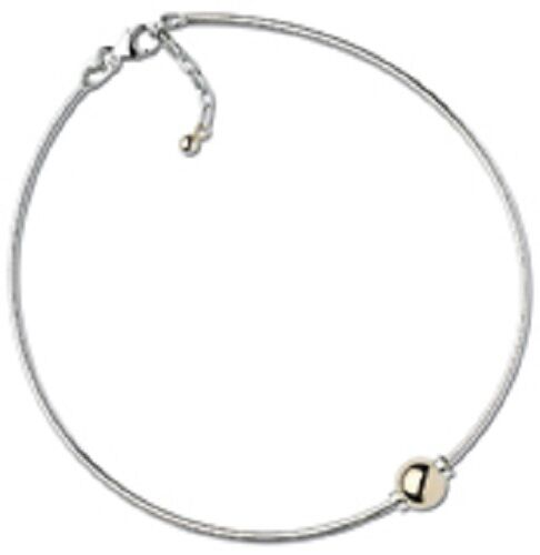 Cape Cod Anklet Sterling Silver Omega Chain With A 14K