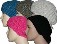 Fashionable Ladies Knitted Beret Winter Hat - Black