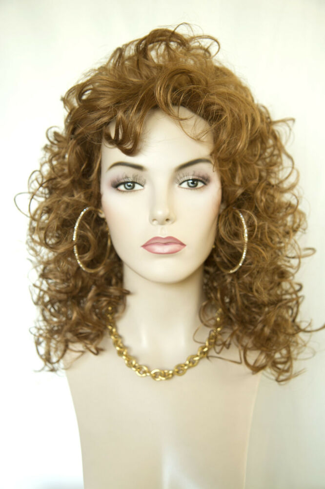 Strawberry Blonde Red Long Medium Curly Wigs Ebay
