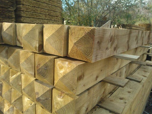 Wooden Gate Posts eBay