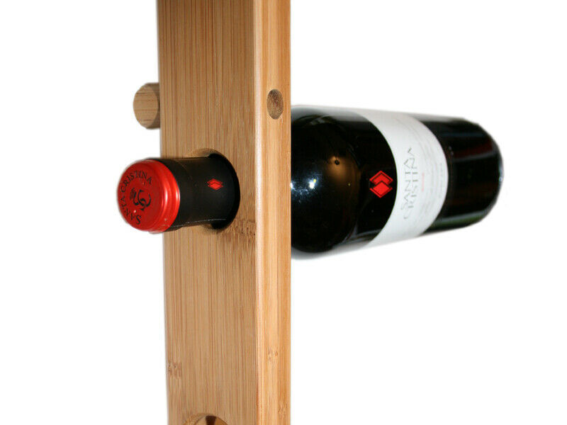 weinregal vino f r 9 weinflaschen bambus wein geschenk weinhalter wandregal wand ebay. Black Bedroom Furniture Sets. Home Design Ideas