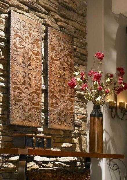 Gorgeous Copper Finish Wall Art Embossed Panels Extra