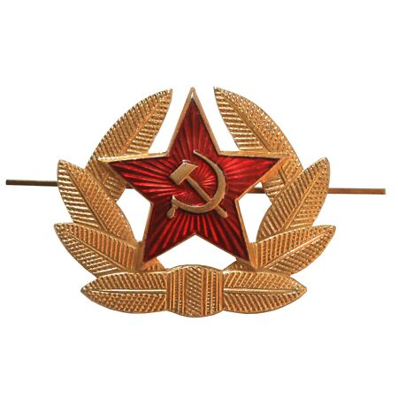 img-Soviet Russian Army Red Star Hammer & Sickle Hat Badge USSR Military Cockade