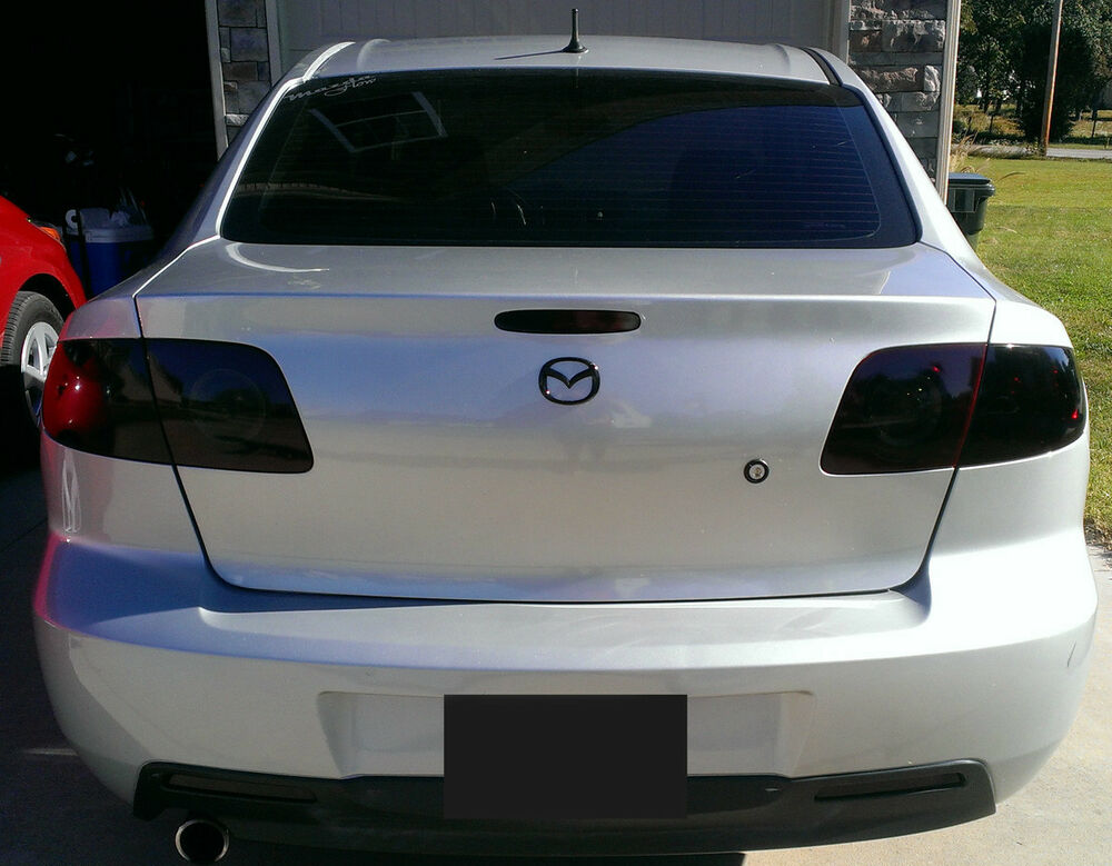 Mazda 3 Smoked Tinted Tail Light Covers Vinyl 04 09 Sedan
