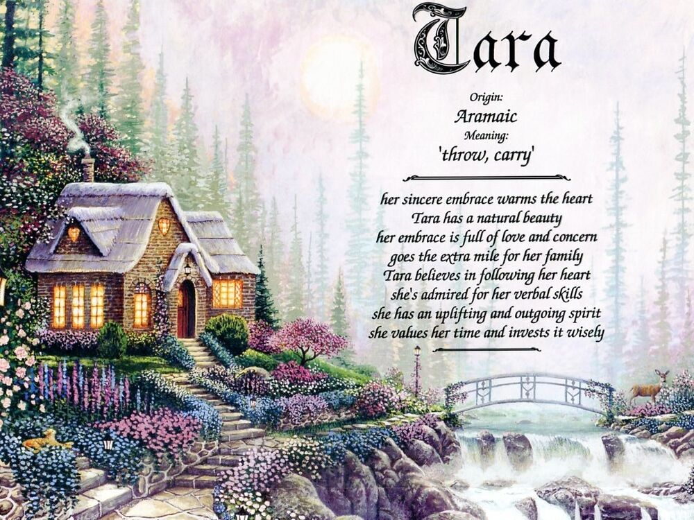 cottage name meaning prints personalized home ebay. Black Bedroom Furniture Sets. Home Design Ideas