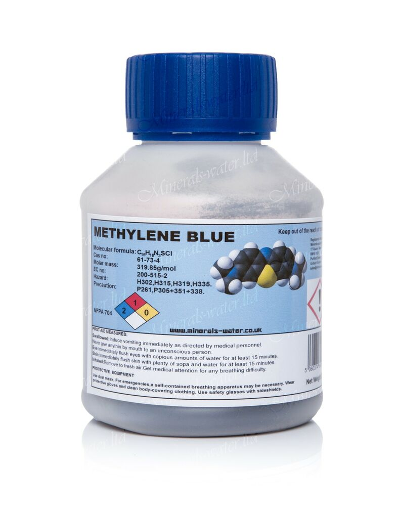 25g methylene blue crystals granules purest quality for Methylene blue for fish