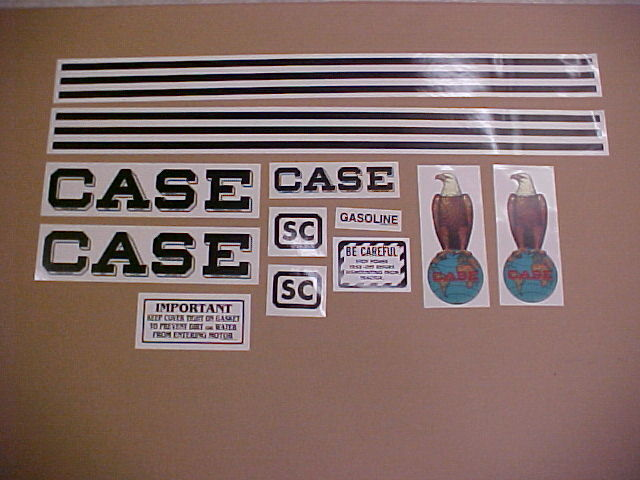 Case Tractor Decal Sets : Case sc decal set complete and new ebay