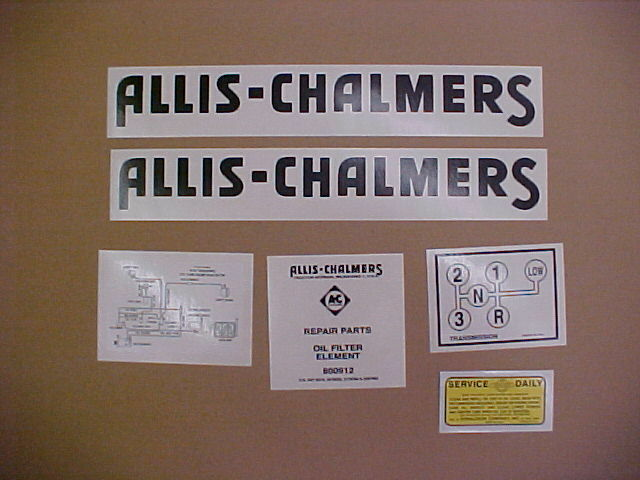 Allis Chalmers Decal Kits : Decal set for allis chalmers g tractor ebay