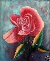 ROSE CHINESE FLOWER ORIGINAL OIL PAINTING NO RESERVE