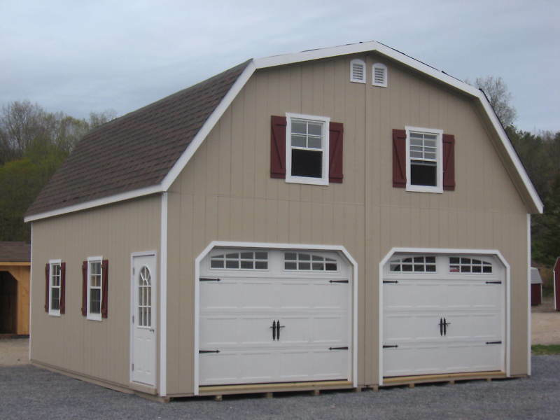 Amish 24x24 Double Wide Garage Gambrel Roof Structure Ebay