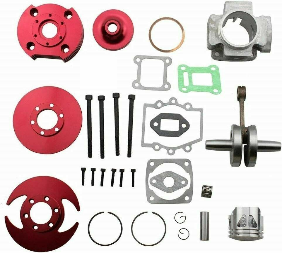 44mm big bore top end kit for atv pocket bike 49cc 2 stroke stage 3 red p ck10r ebay. Black Bedroom Furniture Sets. Home Design Ideas