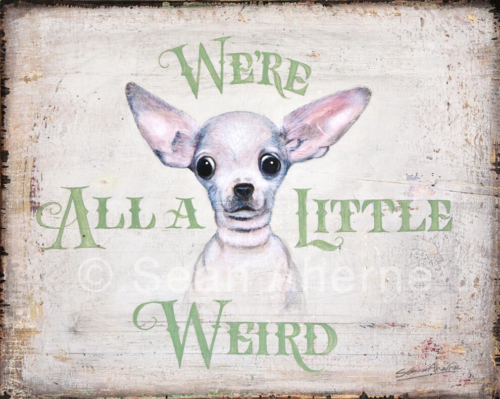 Smooth chihuahua dog shabby chic wooden sign by sean for Shabby chic dog
