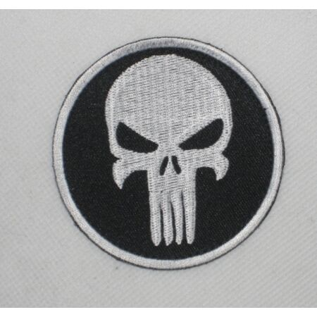img-New Airsoft USMC BDU Patch Arm-Badge Skeleton With Hook Back Black & White