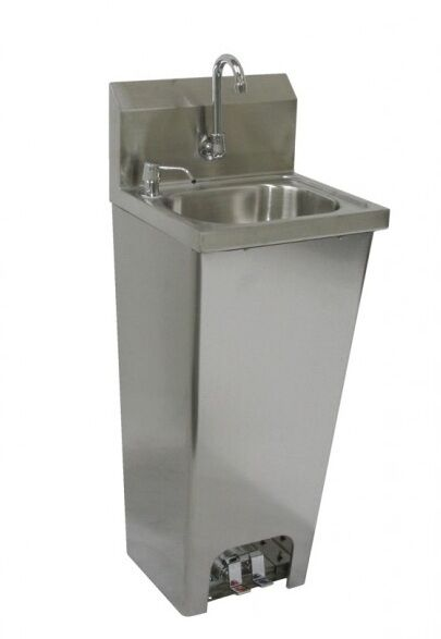 Foot Operated Hand Sink 16 Quot X15 Quot Stainless Steel Etl Nsf