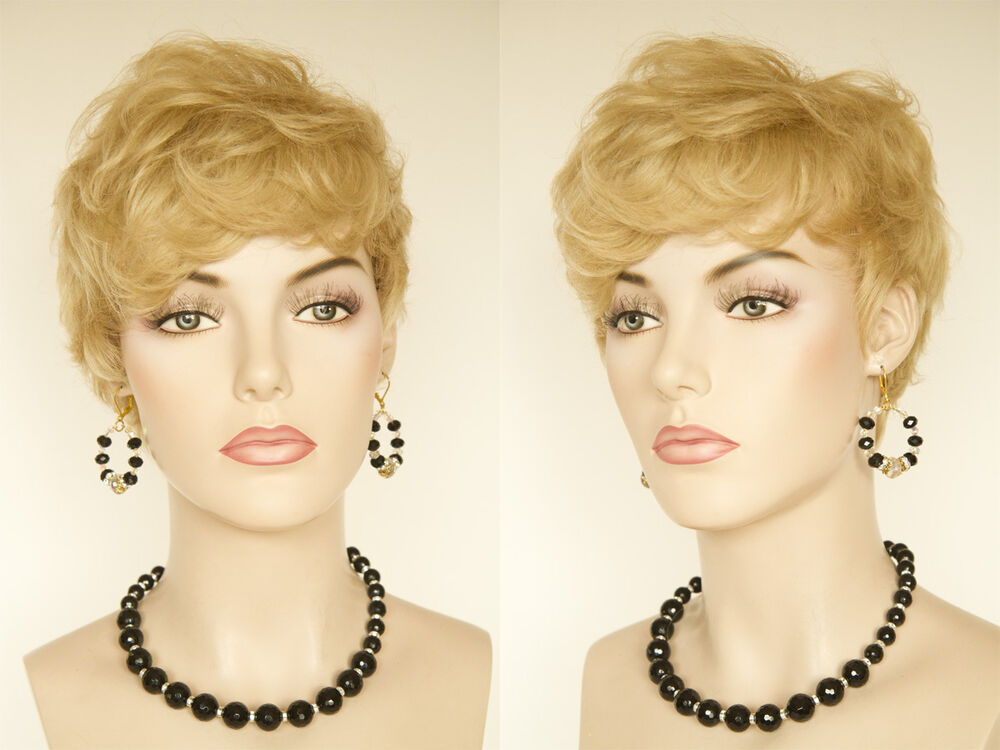 Short Modern Asymmetrical Pixie Cut Human Hair Blonde Red