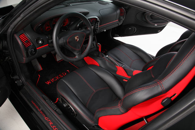 Custom Porsche 996 Interior Black Leather Carbon Fiber