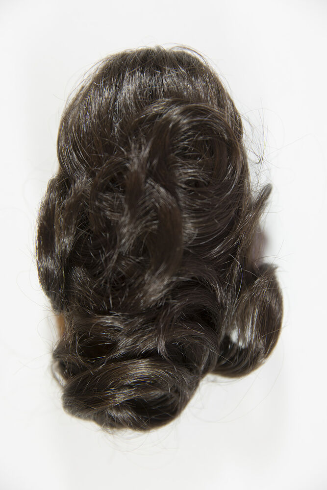 Chestnut Brown Brunette Short Wavy Curly Clip In Extensions Hair Pieces Accessor Ebay
