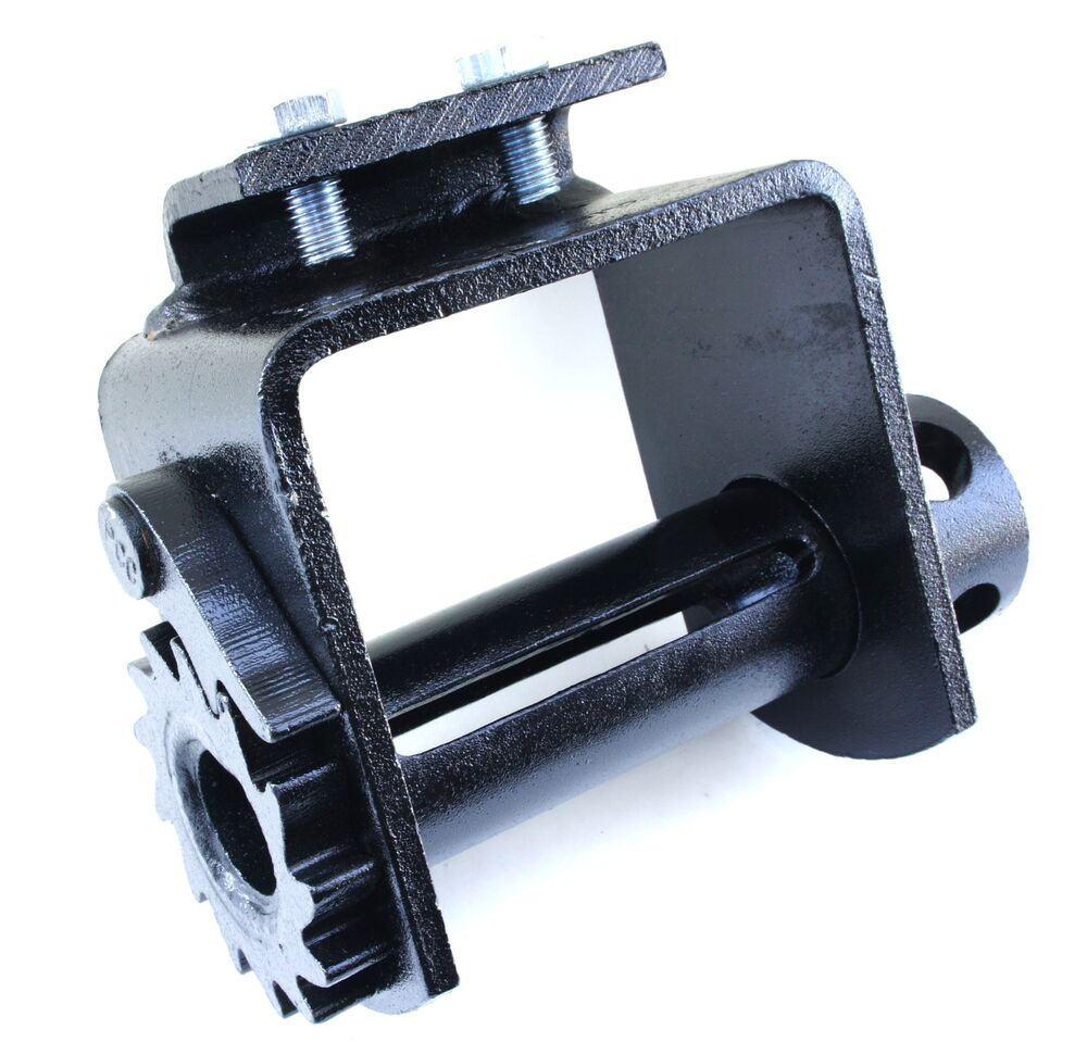 2 Portable Bolt On Winch Flatbed Truck Trailer Winches For