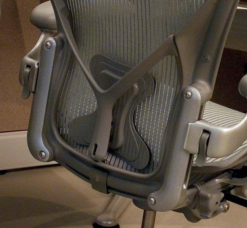 Herman Miller Aeron Chair Posturefit Posture Fit Smoke