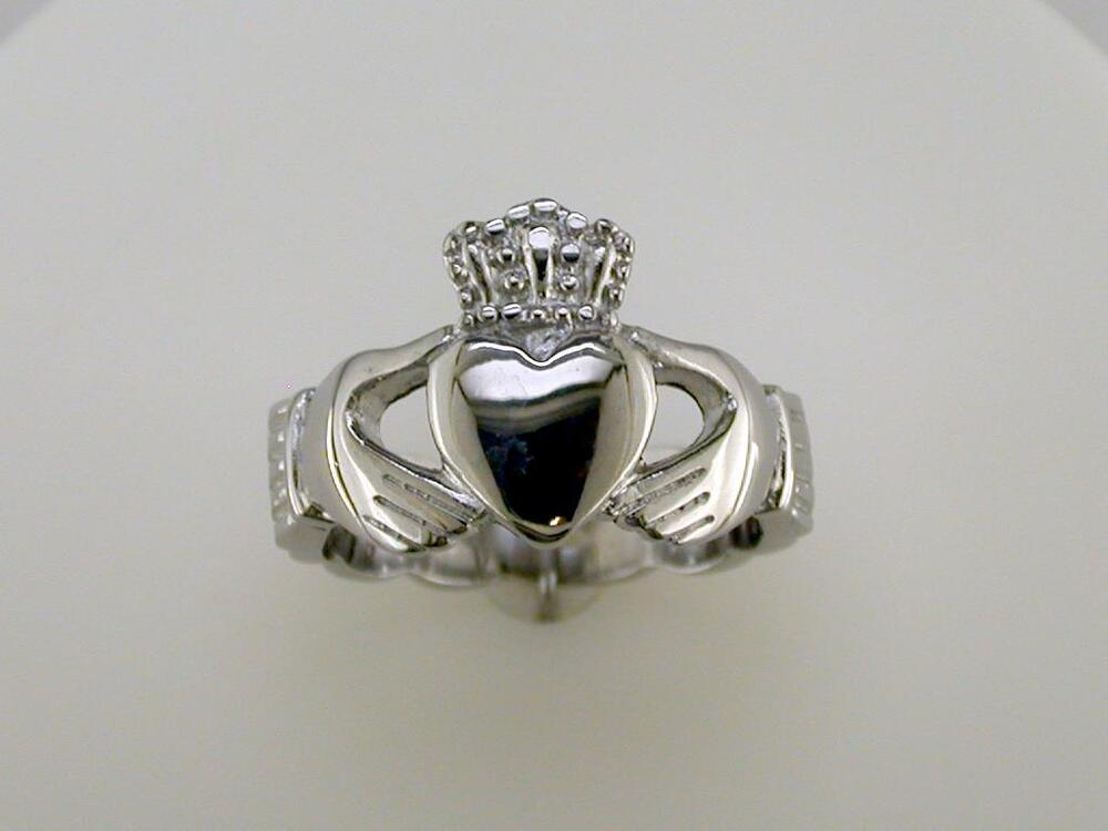 mens braided band claddagh ring stainless steel ebay. Black Bedroom Furniture Sets. Home Design Ideas