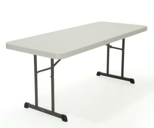 Lifetime Commercial Grade Folding Tables 80249 Almond 6 Ft