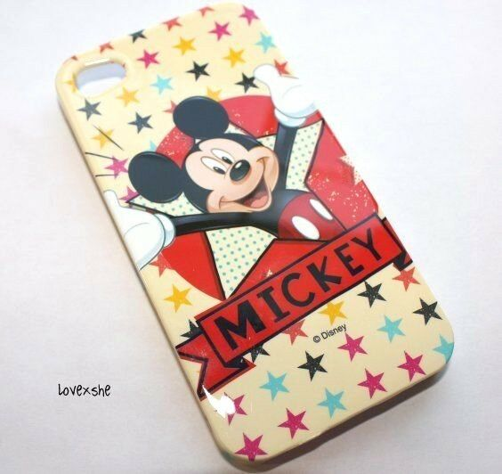 ... PROTECTOR HARD CASE COVER DISNEY RED YELLOW MICKEY MOUSE STARS : eBay