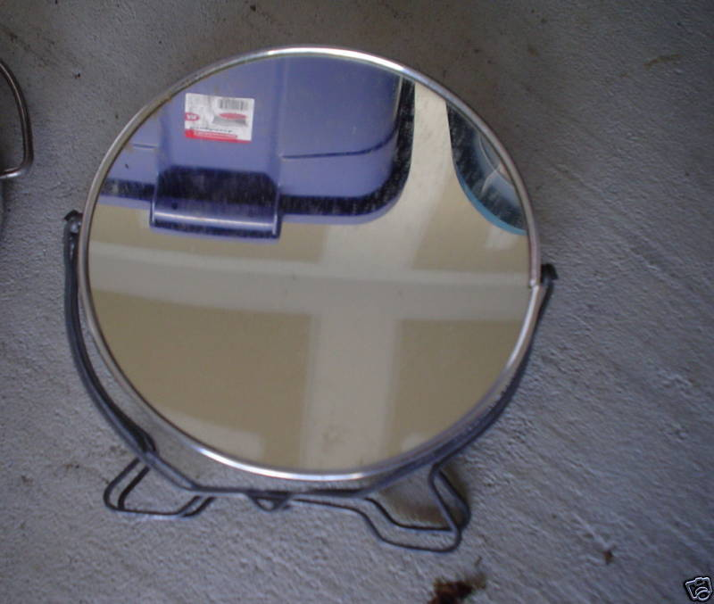 Vintage japan small round hanging mirror look ebay for Small hanging mirror