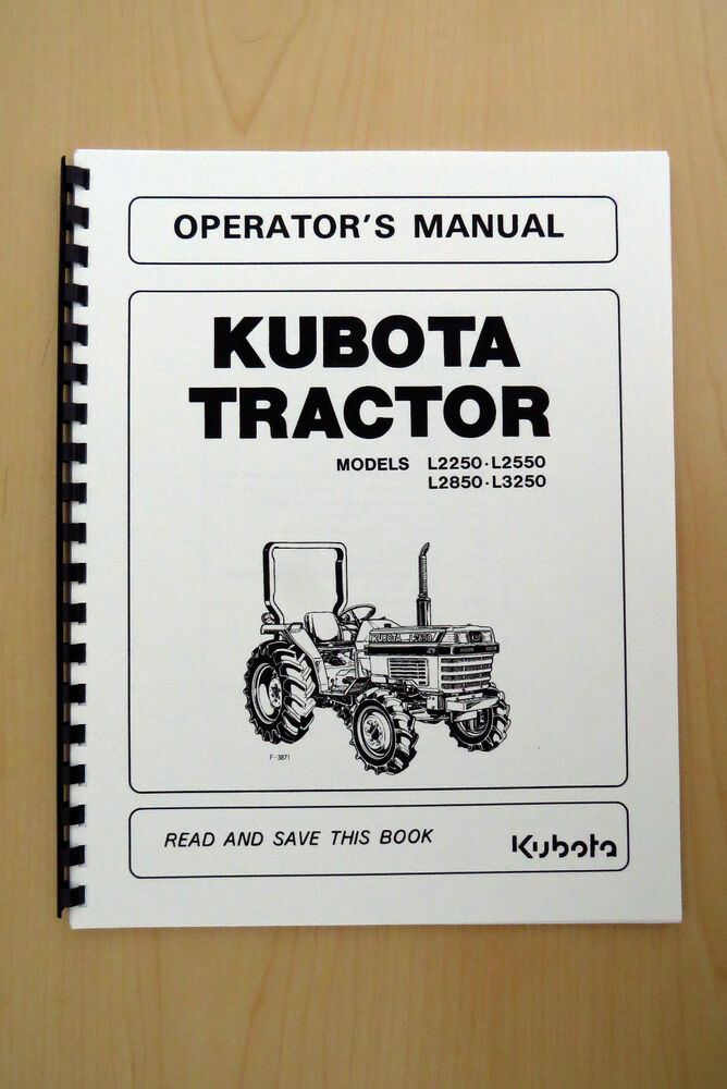 Replacement Parts For L2550 Kubota Tractor : Kubota l series tractor operator s
