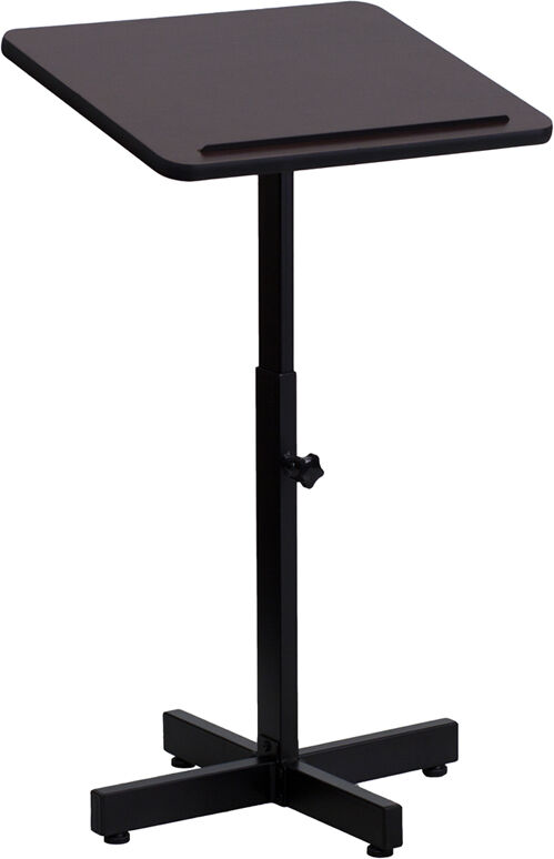 Portable Metal Base Laminate Top Stand Up Lectern Podium
