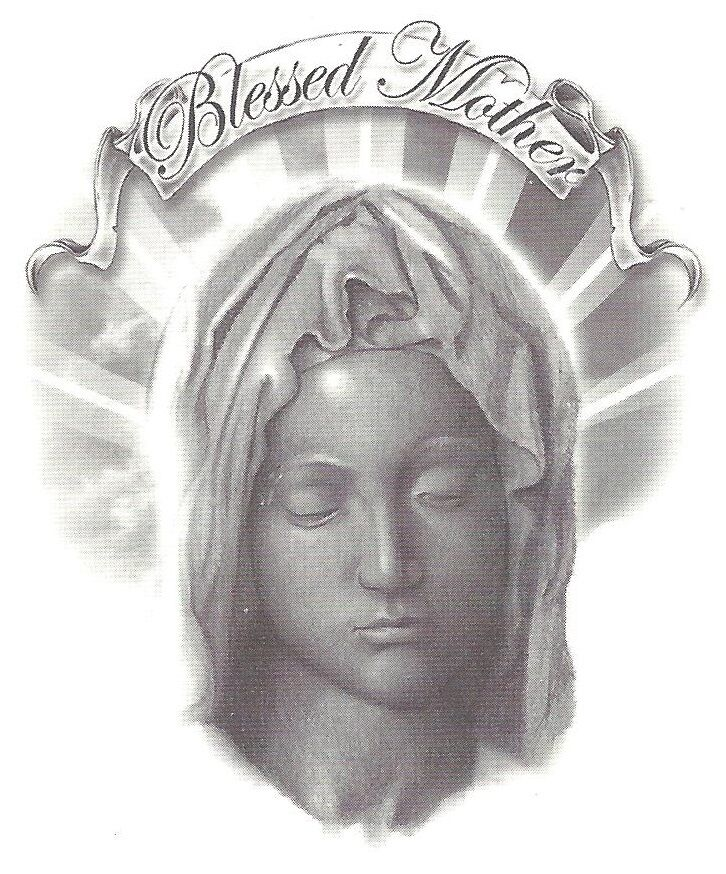 religious blessed mother mary temporary tattoo new ebay