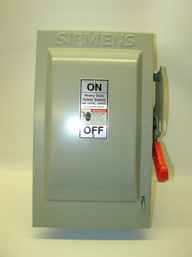 new siemens enclosed fusible safety switch 60 amp hf222n. Black Bedroom Furniture Sets. Home Design Ideas