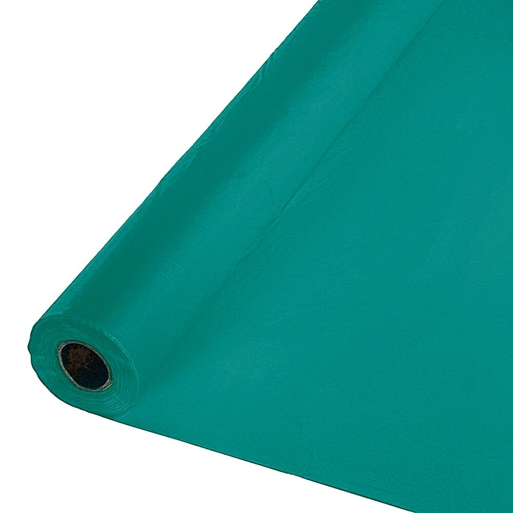 Heavy Duty Cloth : Quot x ft heavy duty banquet roll plastic table cloth