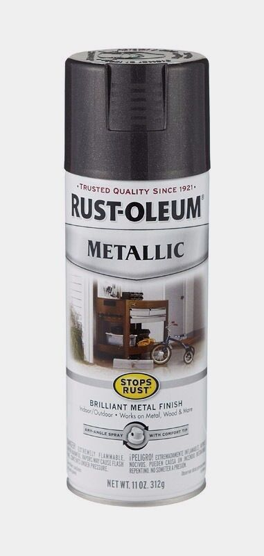 Rust oleum black metallic spray paint stops rust indoor outdoor 11 oz 7250 830 ebay Black metal spray paint