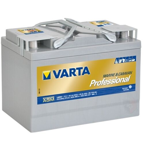 varta professional agm lad60 batterie 60 ah 12 v. Black Bedroom Furniture Sets. Home Design Ideas