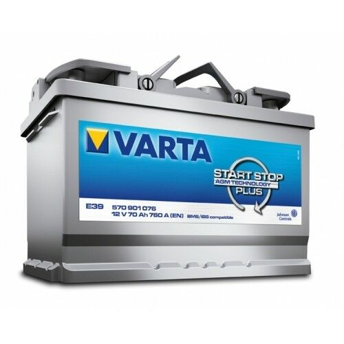 varta batterie start stop plus e39 agm 12v 70ah. Black Bedroom Furniture Sets. Home Design Ideas