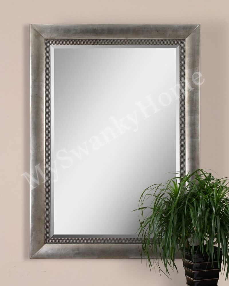 Extra large wall mirror oversize silver contemporary xl ebay for Large silver modern mirror