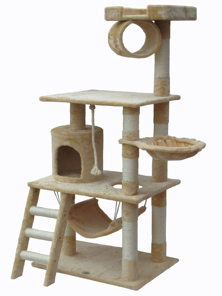 Cat tree house toy bed scratcher post furniture f67 ebay for Cat tree blueprints