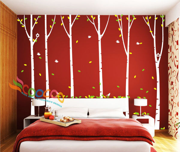 Wall Decor Decal Sticker Removable Large 96 Quot Birch Tree Ebay