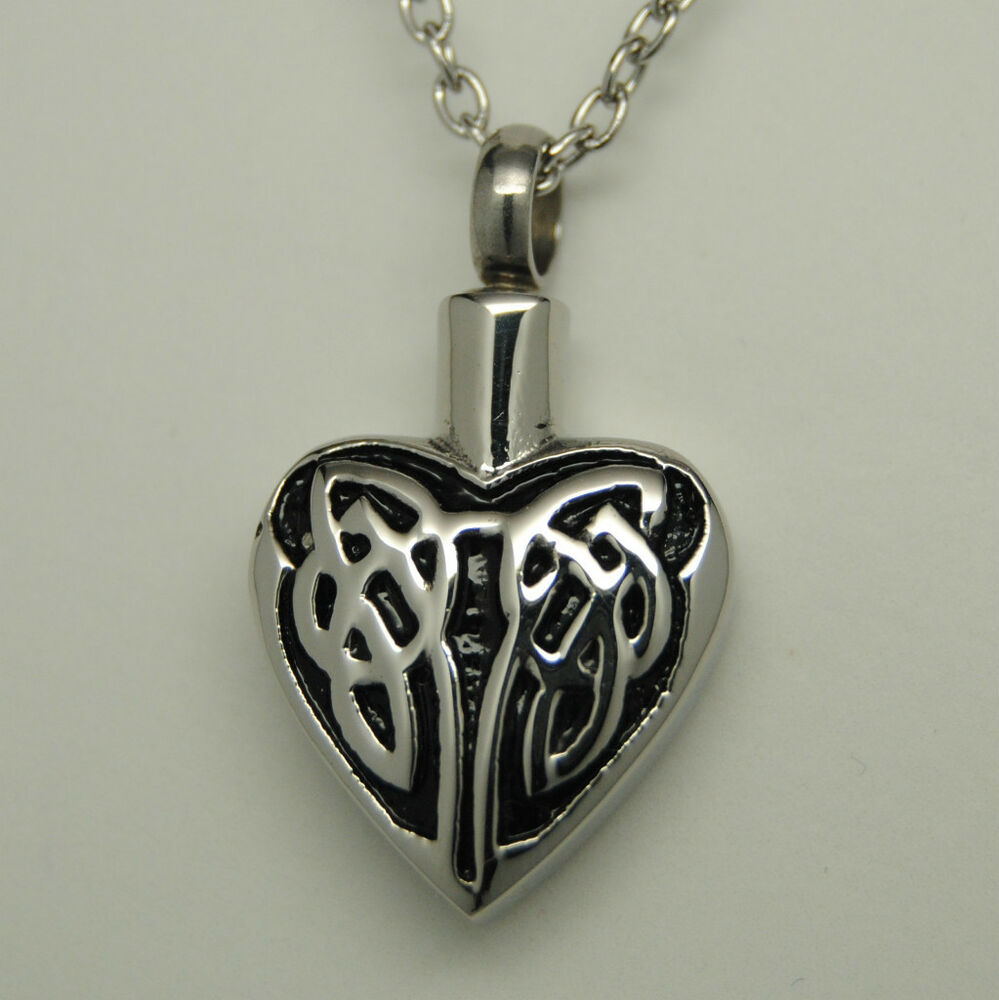 celtic cremation jewelry urn necklace memorial
